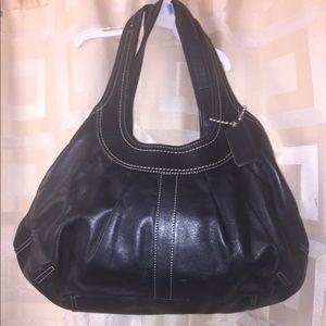 Coach black leather hobo purse